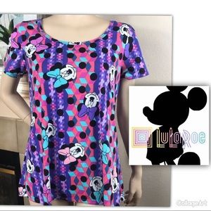 LulaRoe Disney Collection Classic Tee Minnie Mouse